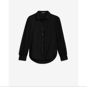 EXPRESS Puff Sleeve Button-Up Shirt